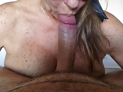 Wife sucking big dick