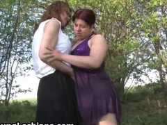 Horny old milf gets dirty with a lesbian